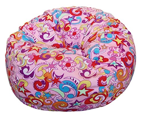 Ahh! Products Retro Fun Anti-Pill Fleece Washable Large Bean Bag Chair by Ahh! Products