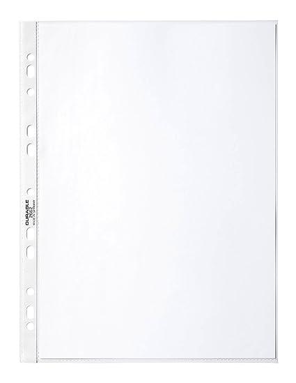 Durable 266819 Prospekthüllen (DIN A4 Business, 0,05 mm) 100 Stück glasklar