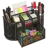 Office Supplies Best Deals - LTC® Space Saving Black Metal Wire Mesh 8 Compartment Drawer Penholder Office School Supply Desktop Organizer Caddy