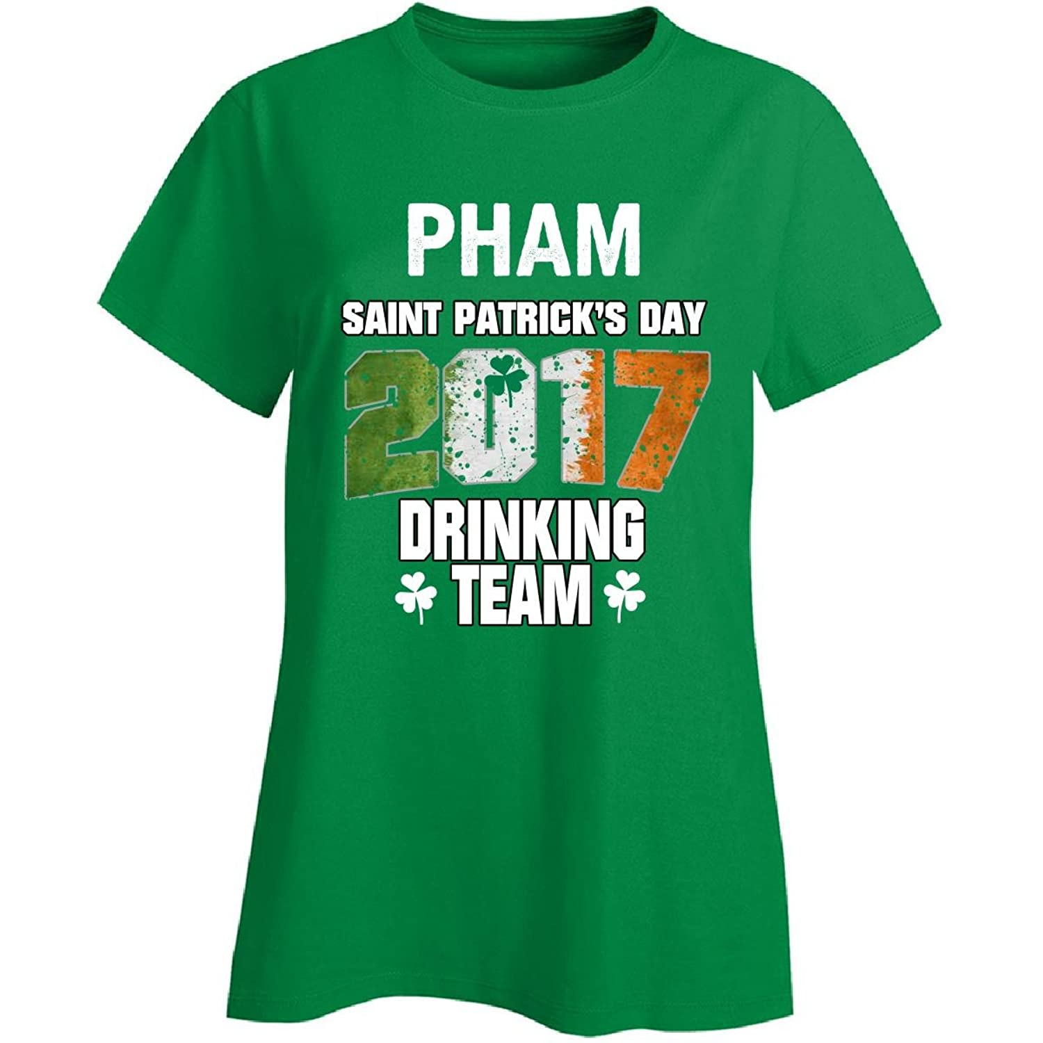 Pham Irish St Patricks Day 2017 Drinking Team - Ladies T-shirt