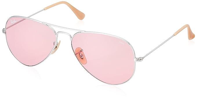 Ray-Ban 9065V7 Gafas de sol, Silver, 57 para Hombre: Amazon ...