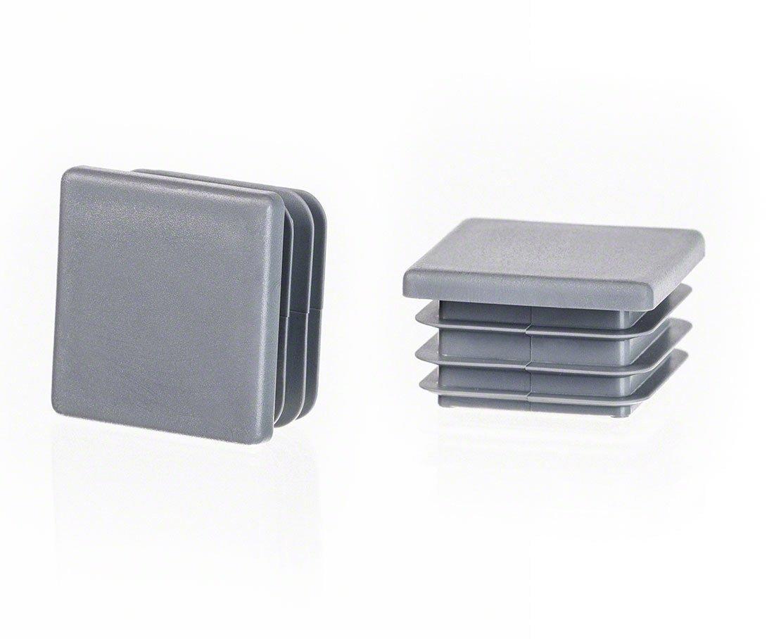 10 Stck Quadratstopfen 18x18 mm Schwarz Kunststoff Lamellenstopfen Abdeckkappe