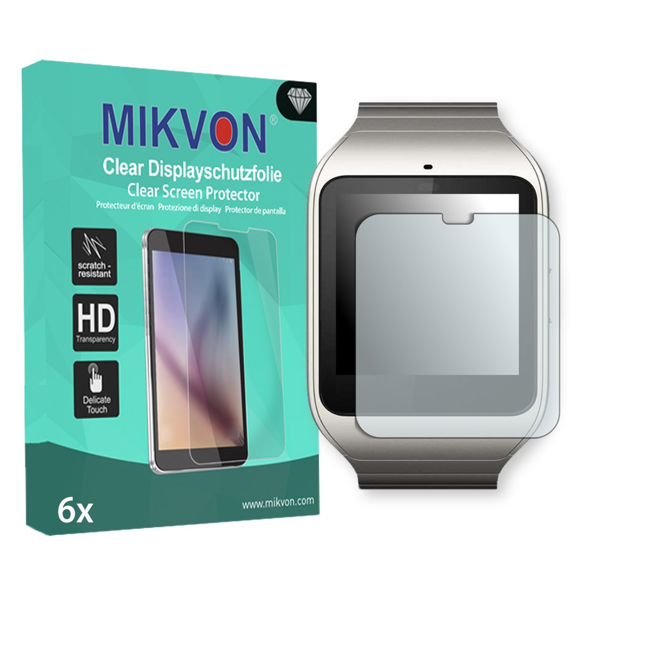 Amazon.com: MIKVON 6X Clear Screen Protector for Sony ...