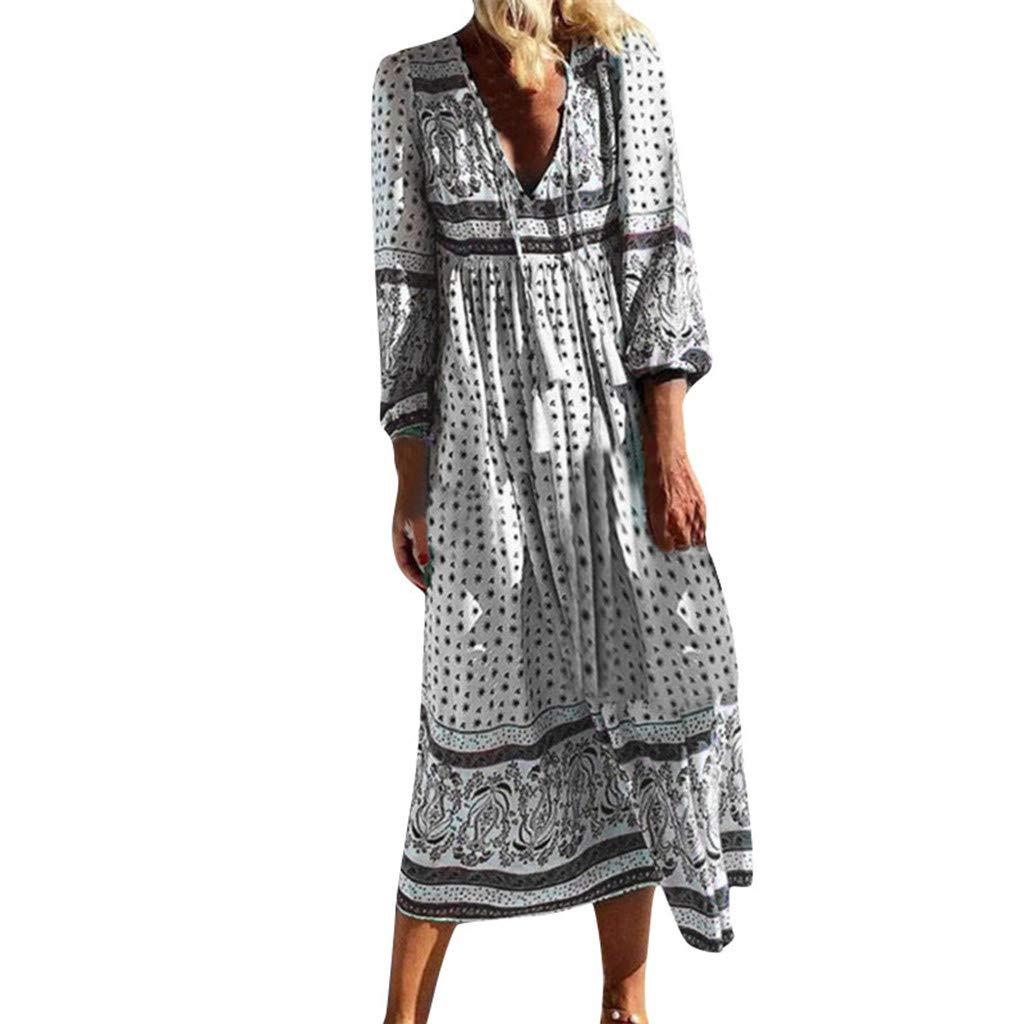 Wave166_Vestido Vestidos Mujer Casual Verano Largo Maxi Falda ...