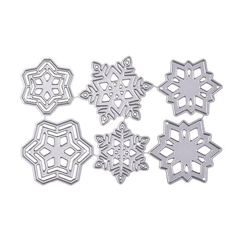 Healifty Troqueles de corte de metal plantilla plantilla molde DIY plantilla de relieve de metal para