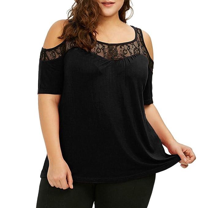 CICIYONER mujeres gasan la camiseta bordada hombro ocasional de la gasa blusa Tops: Amazon.es: Ropa y accesorios