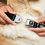 Dodge Dog Collar DV-Viper Black Silver Viper REPEAT w Text - Large 15-26