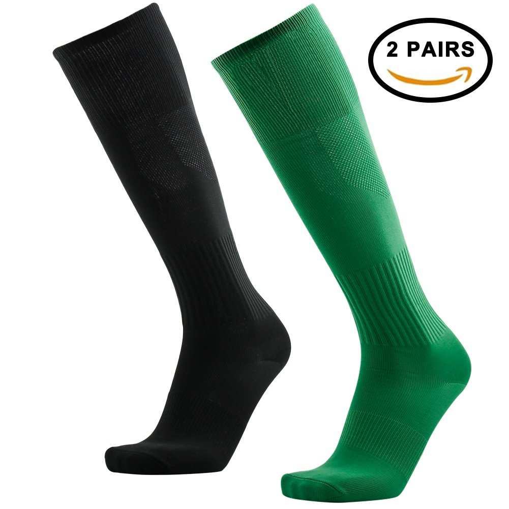 Tattooサッカーソックス、3streetユニセックスニーハイプリントチューブソックス2 / 6ペア B0743893NR 03#2 Pairs Green Black-Unisex 03#2 Pairs Green Black-Unisex