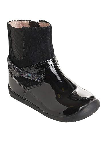 8fa0fb3c540b2 Vertbaudet Boots Cuir Fille élastique côté  Amazon.fr  Chaussures et ...