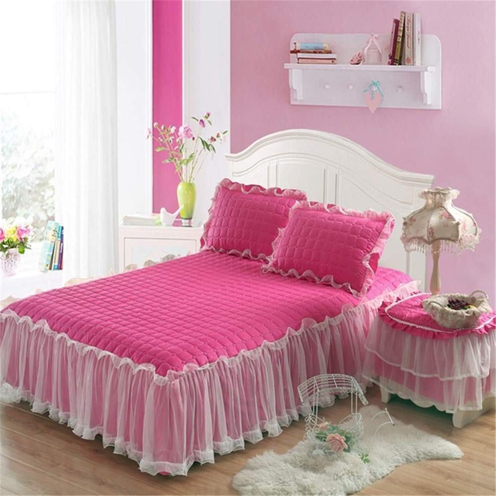 FENGDONG Single Double Bed Mattress Cover Petticoat Bed Bedspread Bedding by FENGDONG