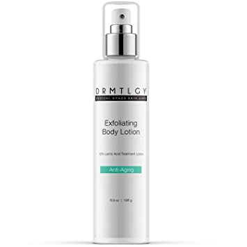DRMTLGY Keratosis Pilaris Treatment Lactic Acid Skin Lotion  For Rough and  Bumpy Skin, KP, Dry