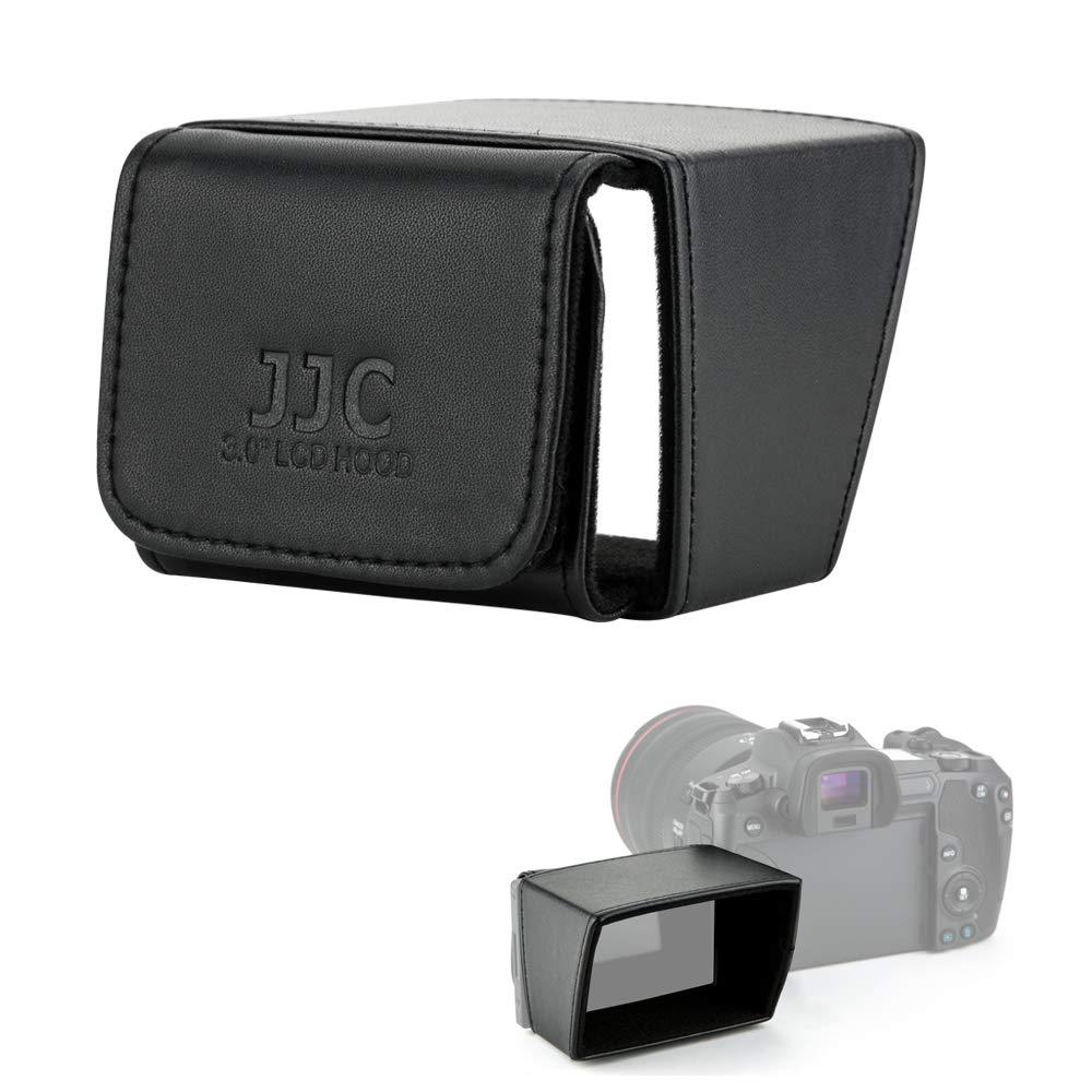 JJC Camera 3'' LCD Screen Hood for Canon EOS M50 RP R 90D 80D 70D 77D 6D Mark II Rebel T7i T6s T6i SL3 SL2 SX70 HS SX60 HS Nikon D5600 D5500 D5300 P1000 Panasonic G7 G9 G85 G95 GH5 GH5s FZ1000 FZ2500 by JJC