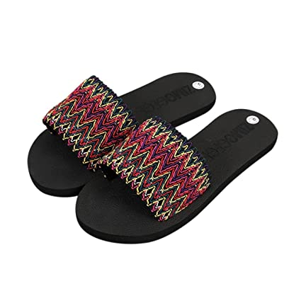 Women Summer Flip Flops Shoes Sandals Slipper indoor & outdoor Flip-flops (36, Rosa)