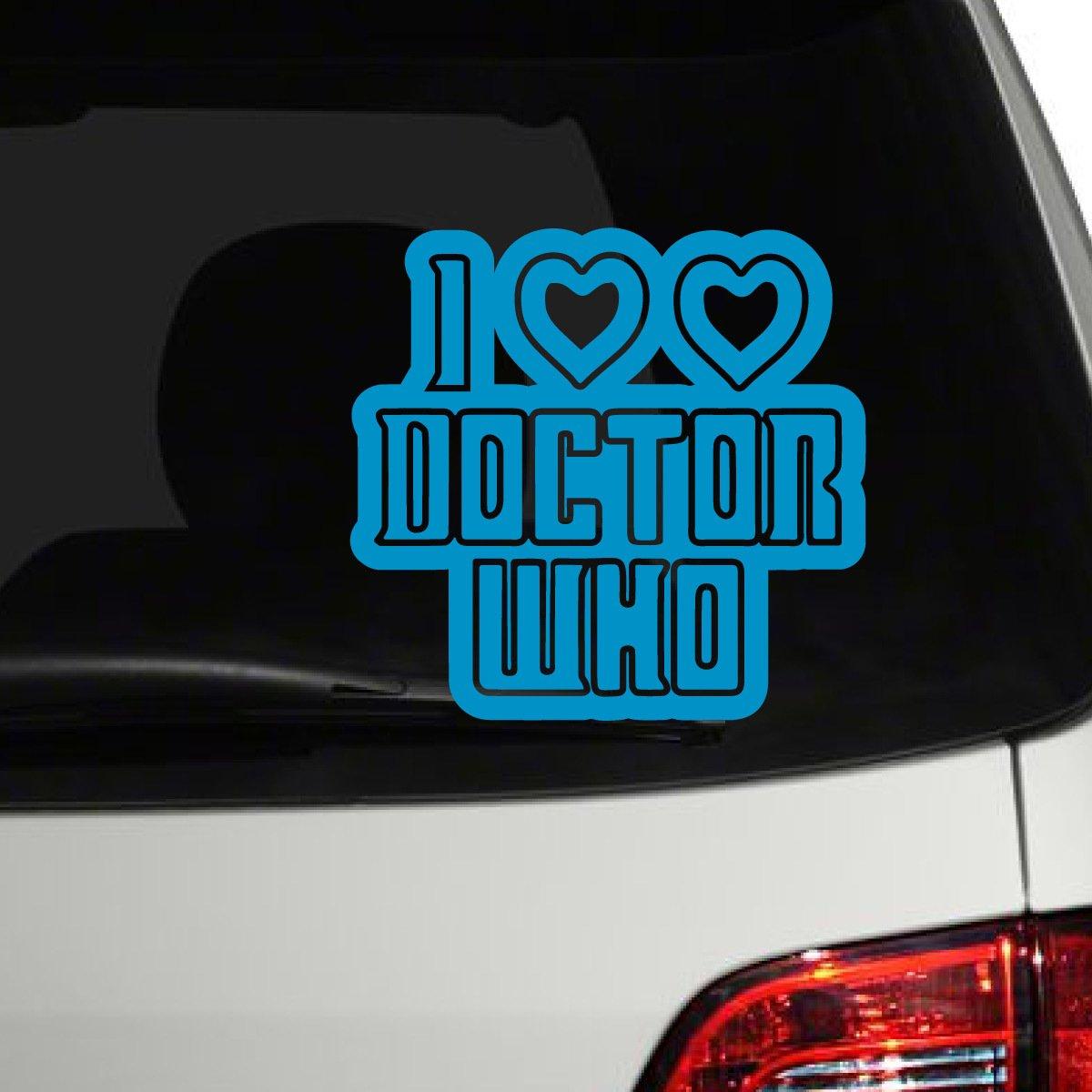 【特別セール品】 I H Love 8\ Dr。Who車デカール グレー、Die Cut Vinyl Decal for Windows車、トラック、ツールボックス、ノートパソコン、ほぼすべてmacbook-ハード、滑らかな表面 8