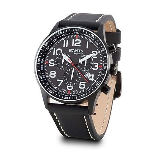 DUWARD Reloj para Hombre Analógico Cuarzo Suizo con Correa de Piel de Vaca D85534.54: Amazon.es: Relojes