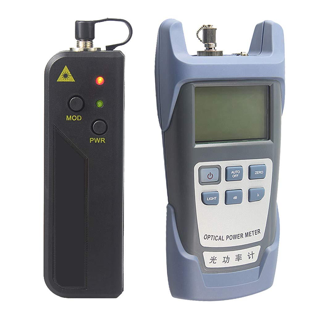 Baosity AUA-9 Fiber Optic Cable Tester Optical Power Meter with Sc & Fc Connector Fiber Tester + 20mW Visual Fault Locator Equipment for CATV Test,CCTV Test