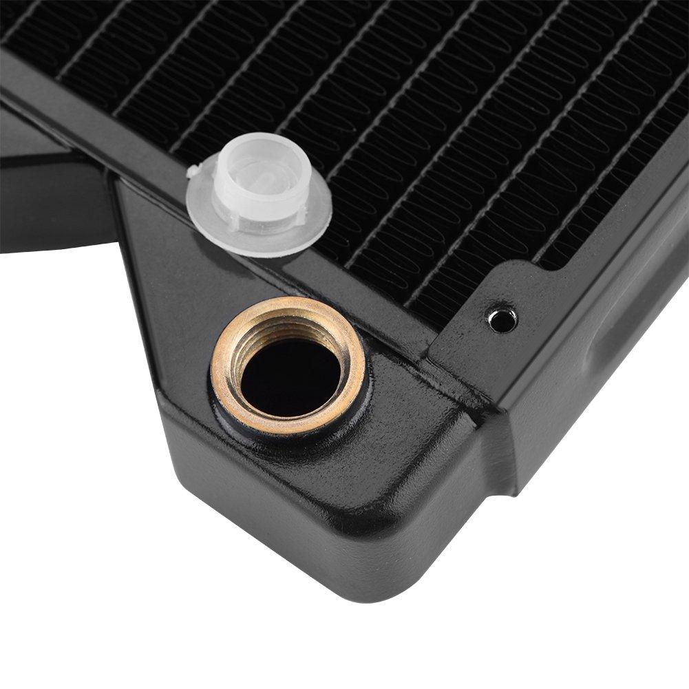 Asixx Cooling System Heat Sink G1//4 Heat Sink G1//4 Copper Water Heat Radiator Exchanger Water Computer Heat Sink; Water Cooling Heat Sink; G1//4 Heat Sink; Cooling System Heat Sink; Computer Accessory