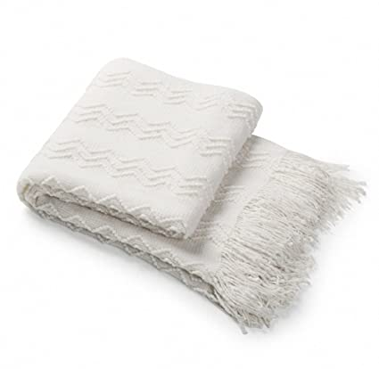 Soft Blanket Texture For Bourina Throw Blanket Textured Solid Soft Sofa Couch Decorative Knitted Blanket 50quot 60quot Amazoncom