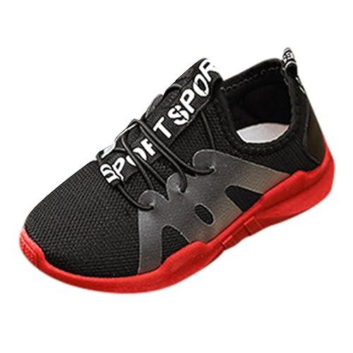 Zapatos 3-10 Años,Logobeing Zapatillas para Niños Niña Suela Blanda Zapatos Carta Deporte