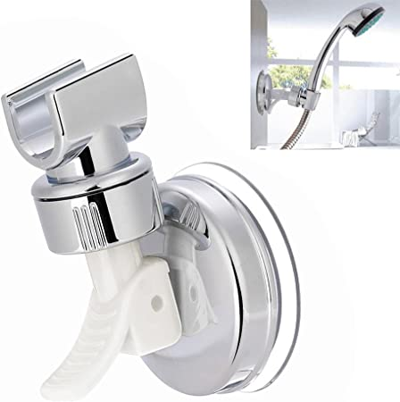 Adjustable Shower Head Holder Plastic Vacuum Wall Suction Cup Wall Mount