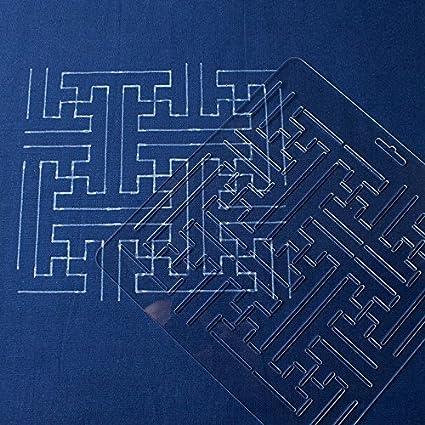 Amazon Thealese Sashiko Stencil By Acrylic Sashiko Embroidery