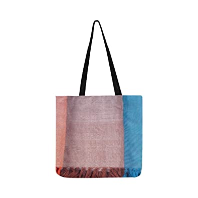 7ed75d7d7c3a Image Unavailable. Image not available for. Color  Texture Drapery Fabric  Fringes Canvas Tote Handbag Shoulder Bag Crossbody ...