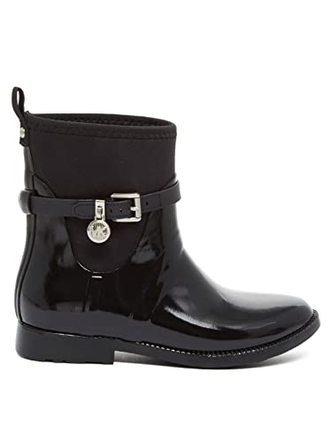 MICHAEL by Michael Kors Zapatos Charm Botines de Lluvia Negro en Goma Elastica Mujer 38.5 Negro: Amazon.es: Zapatos y complementos