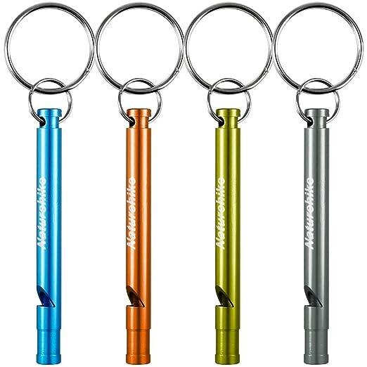 4 opinioni per Alluminio Fischietti, FineGood 4 Pack sopravvivenza emergenza Whistles con