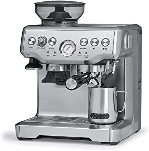 yong 15 Bar Espresso Machines, Espresso Coffee Maker with Milk Frother Wand for Espresso, Cappacino,1700W, 2L Large Removable Water Tank, Double Temperature Control System, Stainless Steel