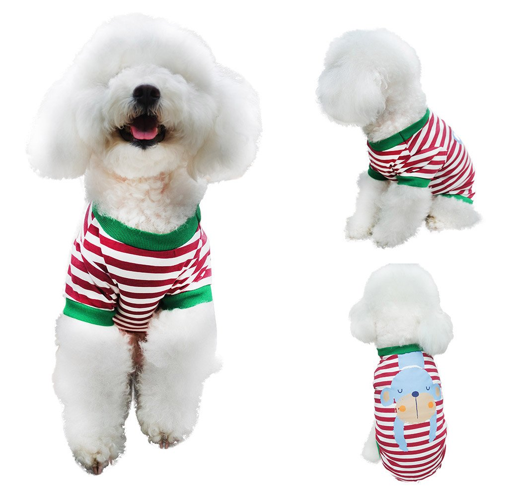 Dog Clothes Shirts For Dogs Cats, Chol & Vivi Dog Shirts Apparel Cat Shirts Summer Fit Large Medium Small Extra Small Dogs, 2PCS Animal Printing Cotton Dog Shirts Soft And Breathable, Extra Large Size by Chol & Vivi (Image #4)