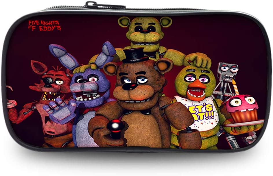 Five Nights at Freddys Trousse /à Crayon Style Sauvage Simple Stylo Crayon Cas cosm/étique imperm/éable Sac de Poche Sac de Rangement pour Les /étudiants Color : A01, Size : 22 X 4.5 X 11cm