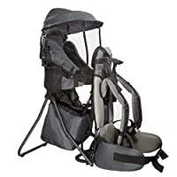 ClevrPlus Cross Country Baby Backpack Hiking Child Carrier Toddler Gray