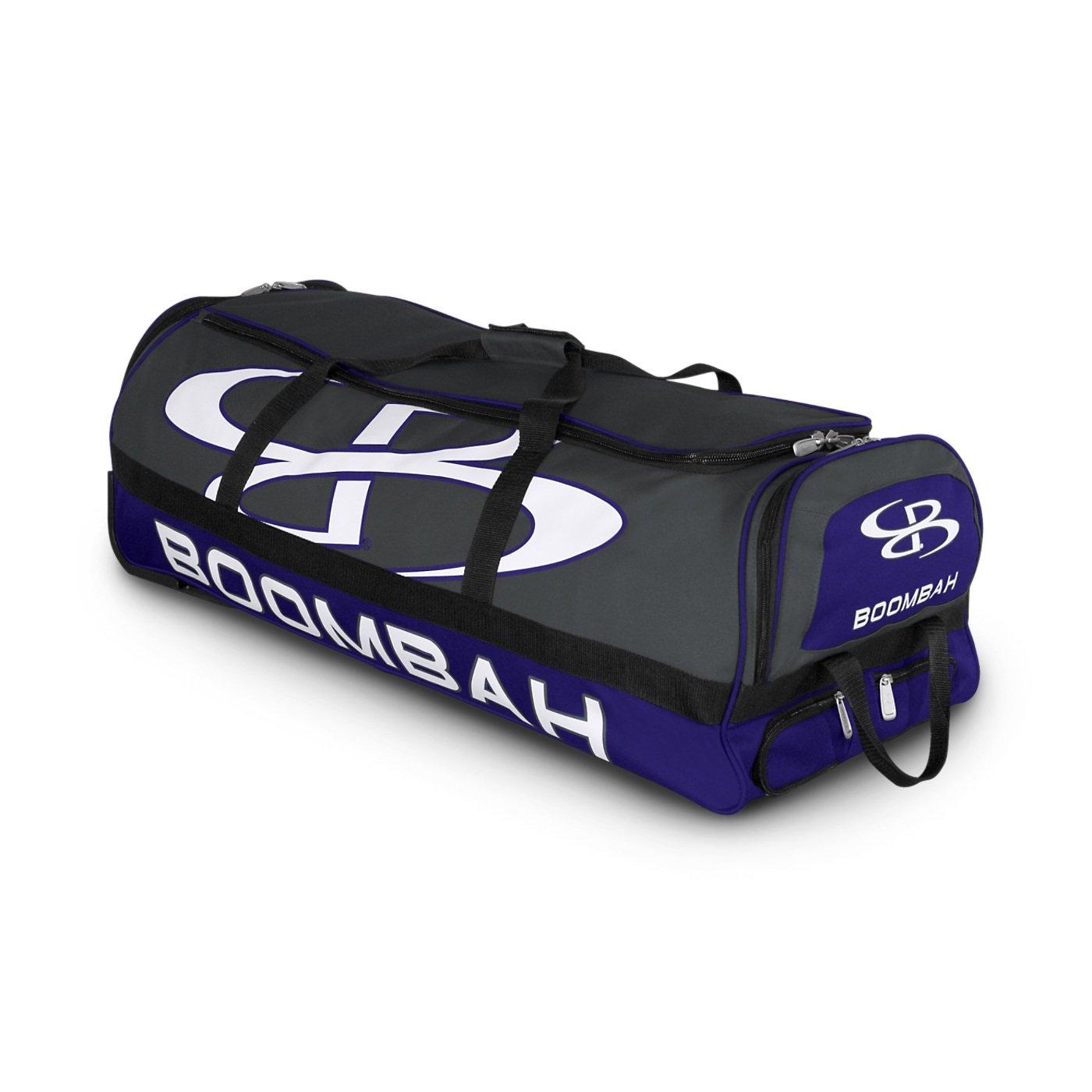 (ブームバー) Boombah Bruteシリーズ キャスター付きバットケース 野球ソフトボール用 35×15×12–1/2インチ 49色展開 4本のバットと用具を収納可能 B01MQPQRB9 Dark Charcoal/Purple Dark Charcoal/Purple