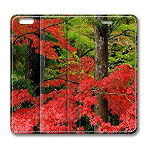 iPhone 6 Plus Case, Fashion Protective PU Leather Flip Case [Stand Feature] Cover Autumn In Japan for New Apple iPhone 6(5.5 inch) Plus