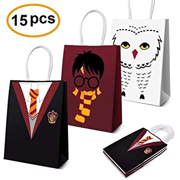 LAOZHOU Wizard Party Supplies Favors, Wizard Party Bags For Wizard Decoraciones de Fiesta de cumpleaños con Tema Conjunto de 15 (3 Colores)