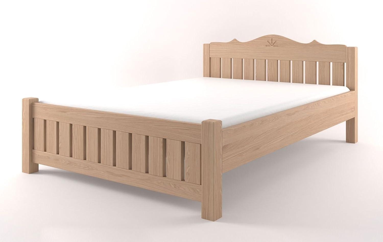 Doppelbett Buche Vollholz massiv natur Pirol 89 - Abmessung 160 x 200 cm