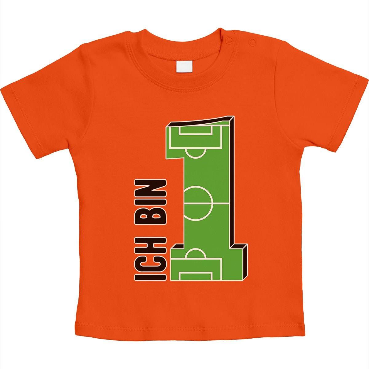 66-93 Fu/ßball Unisex Baby T-Shirt Gr Geschenke Baby 1 Jahr Geburtstag Junge