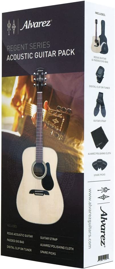 Alvarez RD26S-AGP Dreadnought - Pack de guitarra acústica: Amazon.es: Instrumentos musicales