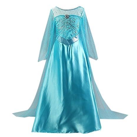 Para Disfraz Peach Princesa De Vestido Azul Con Larga Capa Little SVGqpUzM