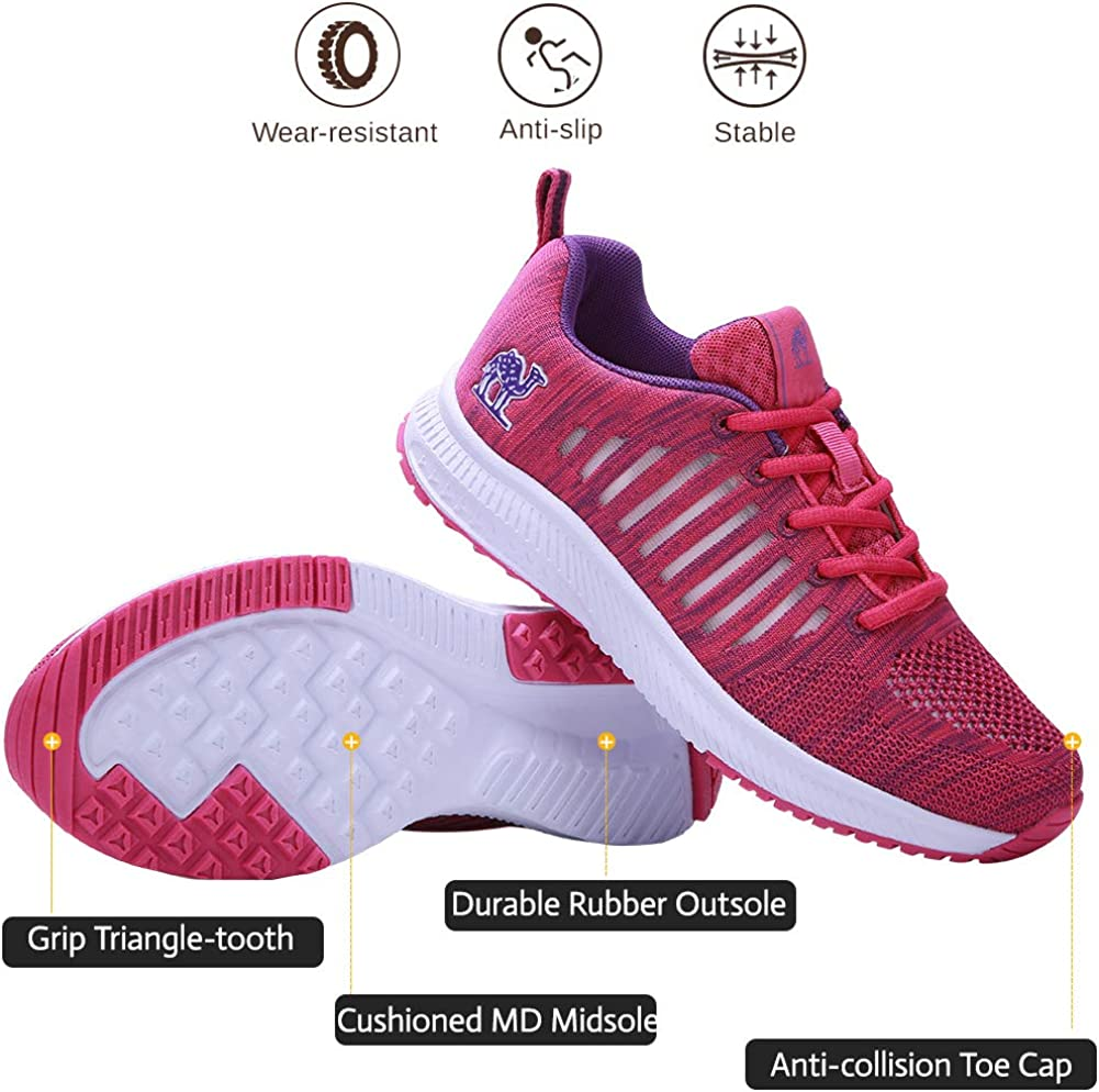 CAMEL CROWN Trail Running Shoes Women Breathable Mesh Tennis Shoes Super Lightweight Comfortable Walking Sneakers Casual Non-Slip Athletic Purple