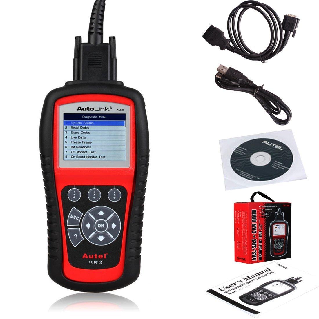 Autel AL619 AutoLink ABS/Air Bag + OBDII Scan Tool