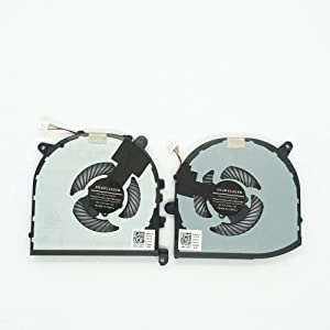 Lee_store Replacement Fan for Dell XPS 15 9560 CPU+GPU Cooling Fan 2 Fans Left+Right DP/N 0VJ2HC 0TK9J1