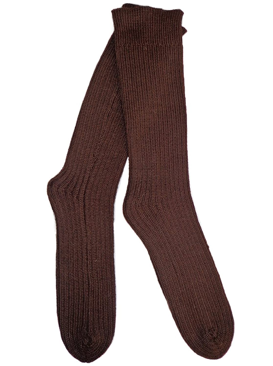 Discount Gamboa Incredibly Warm and Thick 100% Alpaca Wool Long Socks - Smooth Brown supplier
