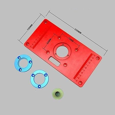 1set Legierung Router Tisch Einlegen Platte 235x120x10mm Für Holz