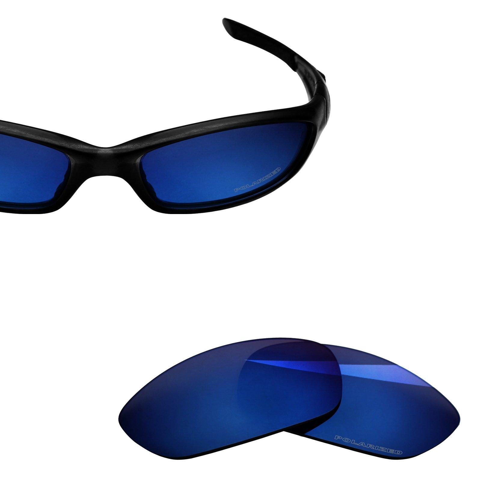 BlazerBuck Anti-salt Polarized Replacement Lenses for Oakley Straight Jacket 2007 - Midnight Blue by BlazerBuck