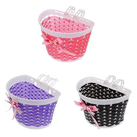 Bicycle Front Shopping Basket and Handlebar Streamer for Children Kids Girls