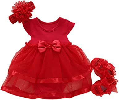 Niyage Baby Girls Clothes Dress Flowers Romper Sets Infant Tutu Bodysuit Party Outfits