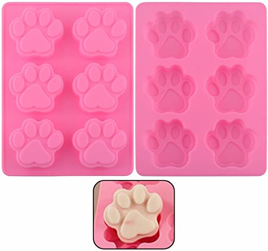 Dog Paw Silicone Baking Pan Mold Ice Tray Treat Cookie Non Stick Mould color DIY