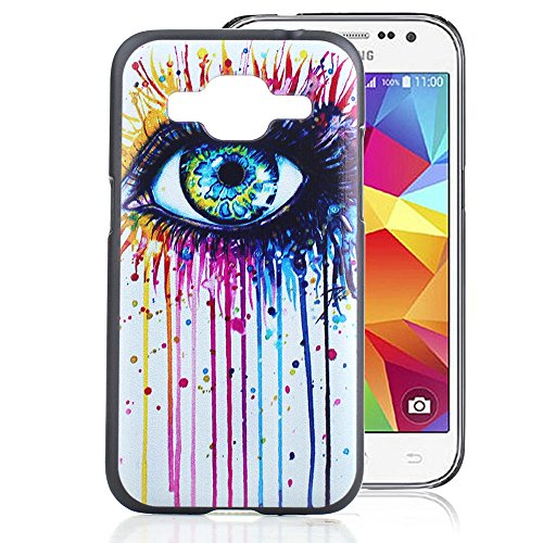 Samsung Galaxy Core Prime G360 Case, Ludan Painted Series Great Color Eyes Durable lightweight Hard PC Cover Case for Samsung Galaxy Prevail LTE G360