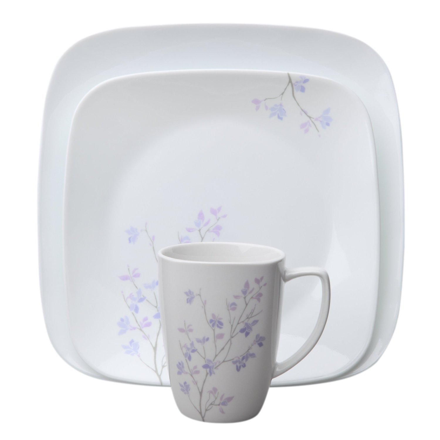 Corelle Square 32-Piece Dinnerware Set, Jacaranda, Service for 8
